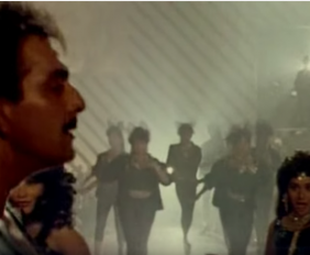 Anuradha Paudwal Bappi Lahiri-Tamma Tamma Loge- Live Recording-Thanedaar-1990-Full movie-Sanjay Dutt-Madhuri Dixit-Song