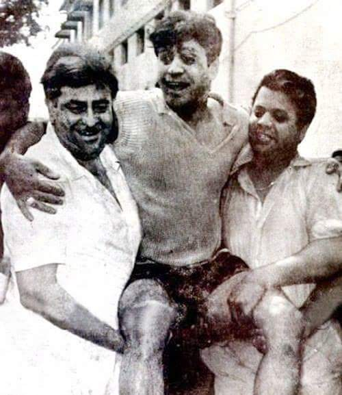 Holi At RK Studio-Raj Kapoor-Holi Celebration-Bollywood-Film-Stars-Rajender-Kumar-Shankar-Jaikishan-Jaikishen-Holi-Actor-Hero-Amitabh-Bachchan-Rekha-Rang-Barse-Heriones-Actress-Playing Holi