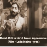 First On-Screen Appearance of Mohd. Rafi