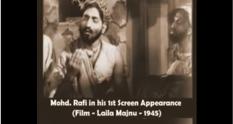 First On Screen Appearance of Mohammed Rafi-In-A-Film-Singer-Bollywood-Bollywoodirect-Films-Movies-Music-