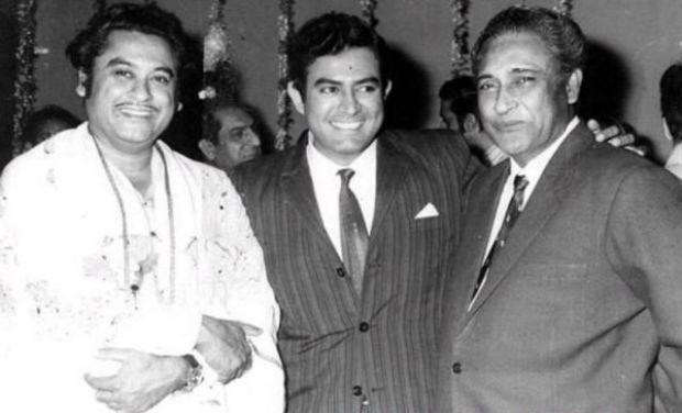 Ashok Kumar with Sanjeev Kumar and Kishore Kumar_Bollywoodirect_Dada Muni