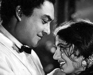 Ashok Kumar and Madhubala in 'Mahal' _Bollywoodirect_Dada Muni