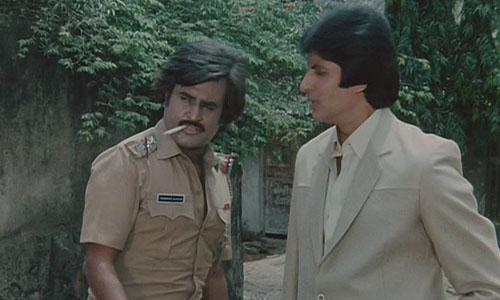 Amitabh Bachchan with Rajnikanth- Bollywoodirect